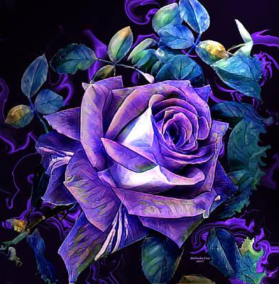 Digital Art - Purple Rose Bud Painting by Artful Oasis