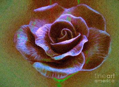 Photograph - Purple Rose by Ed Churchill