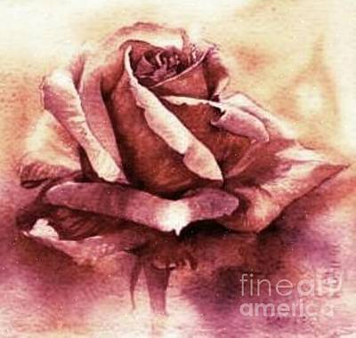 Painting - Purple Rose by Sandra Phryce-Jones