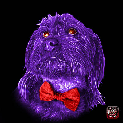Painting - Purple Schnoodle Pop Art 3687 - Bb by James Ahn