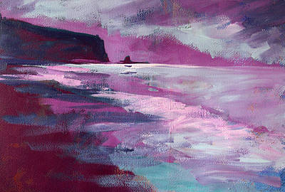 Painting - Purple Sea by Nancy Merkle
