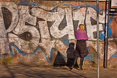 Photograph - Purple Shawl by Art Ferrier