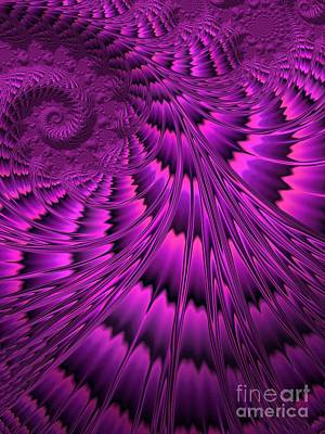 Creativity Digital Art - Purple Shell by John Edwards
