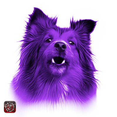 Painting - Purple Sheltie Dog Art 0207 - Wb by James Ahn