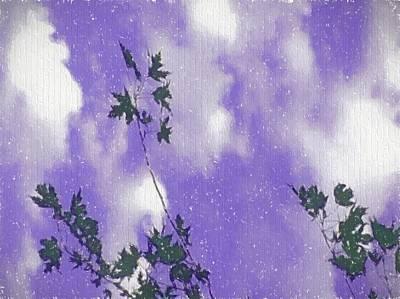 Purple Skies Above Art Print