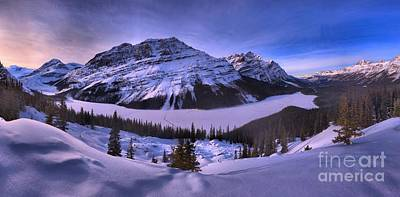 Photograph - Purple Skies At Peyto Lake by Adam Jewell