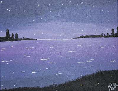 Painting - Purple Skies by Cyrionna The Cyerial Artist