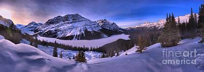 Photograph - Purple Skies Over Peyto Panorama by Adam Jewell