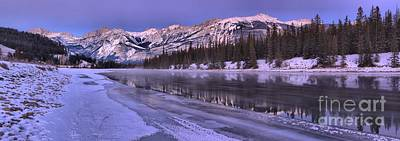 Photograph - Purple Skies Over The Athabasca River by Adam Jewell