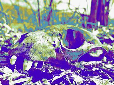 Photograph - Purple Skull Art by Kyle West