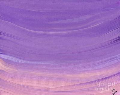 Painting - Purple Sky Abstract by D Hackett