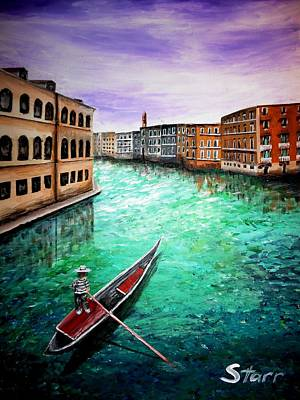 Most Popular Painting - Purple Sky In Venice by Irving Starr