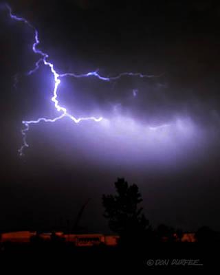 Photograph - Purple Sky Lightening by Don Durfee