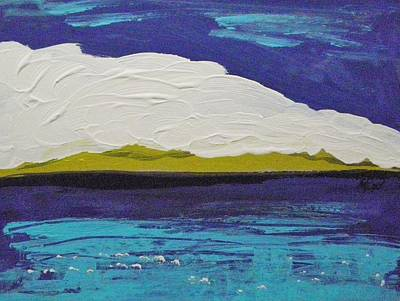 Painting - Purple Sky-white Cloud by Mary Carol Williams