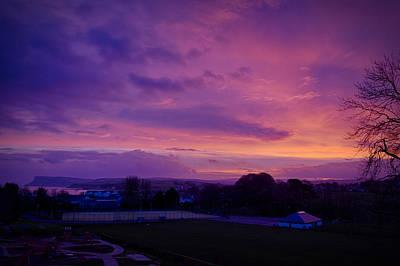 Photograph - Purple Skyblaze by Alex Leonard