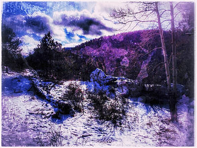 Digital Art - Purple Snow by Dan Miller