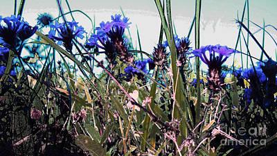 Weeds Digital Art - Purple Spell 2 by Cheryl Raber