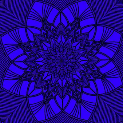 Digital Art - Purple Spiritual by Lucia Sirna