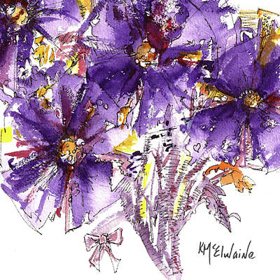 Painting - Purple Stanza by Kathleen McElwaine