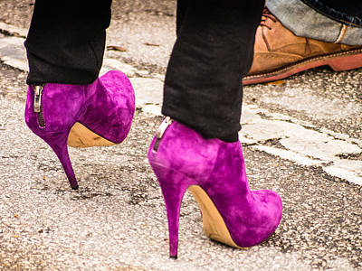 Photograph - Purple Stiletto's by Robin Zygelman