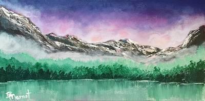 Smokey Mountains Painting - Purple Sunrise by Bridget Marnet Powell