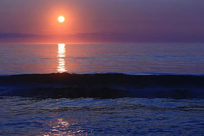 Purple Sunrise On Nauset Beach Original by Dapixara Art