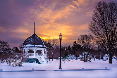 Nh Photograph - Purple Sunrise by Scott Patterson