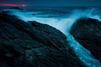 Waves At Sunrise Art Print by William Sanger
