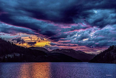 Photograph - Purple Sunset At Summit Cove by Stephen Johnson