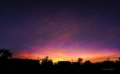 Photograph - Purple Sunset by Karen Slagle