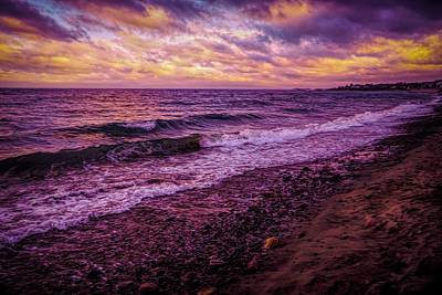 Photograph - Purple Sunset Over Atlantic by Lilia D