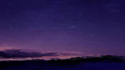 Mixed Media - Purple Sunset Over Beach  by Anthony Fishburne