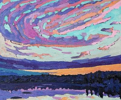 Purple Sunset Original by Phil Chadwick