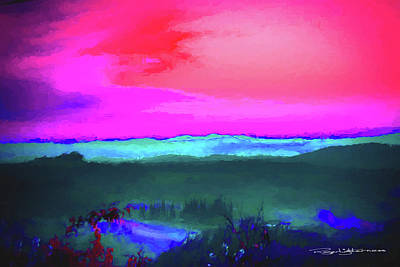 Digital Art - Purple Sunset by Roger Lighterness