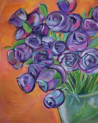 Purple Sunshine  Original by Anne Seay