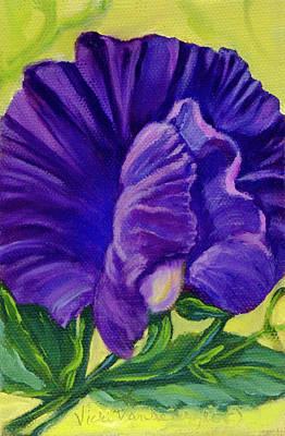 Painting - Purple Sweet Pea by Vicki VanDeBerghe