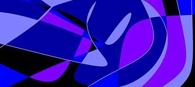 Digital Art - Purple Swirls by Linda Velasquez