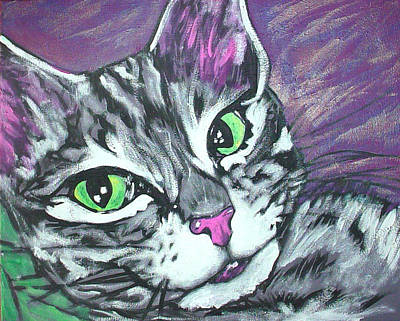 Purple Tabby Art Print
