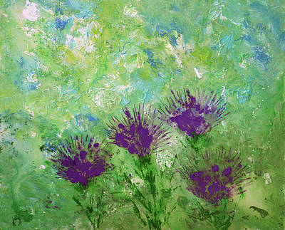 Painting - Purple Thistles by Erik Tanghe