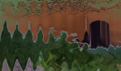 Trippy Digital Art - Purple Transition by Joshua Sunday