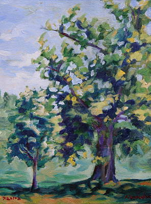 Painting - Purple Tree by Andrew Danielsen