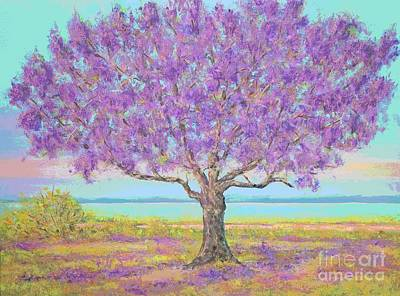 Painting - Purple Tree by Gail Kent