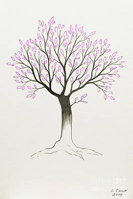 Painting - Purple Tree by Stefanie Forck