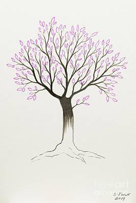 Painting - Purple Tree by Stefanie Forck