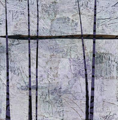 Mixed Media - Purple Trees #1 by Janyce Boynton
