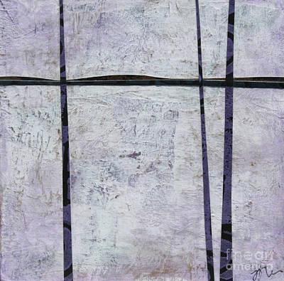 Mixed Media - Purple Trees #2 by Janyce Boynton