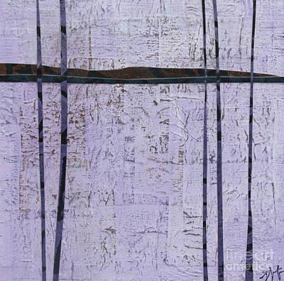 Mixed Media - Purple Trees 3 by Janyce Boynton