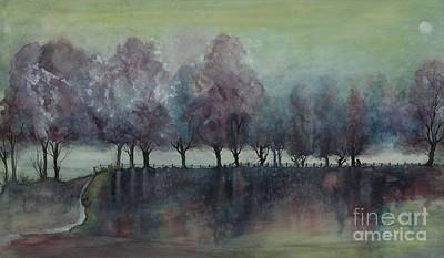 Painting - Purple Trees by Pati Pelz