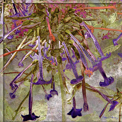 Digital Art - Purple Trumpets by Barbara Berney