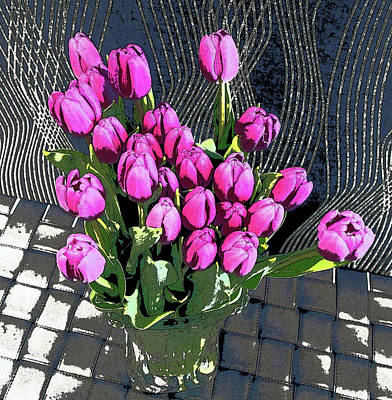Photograph - Purple Tulips by David Pantuso